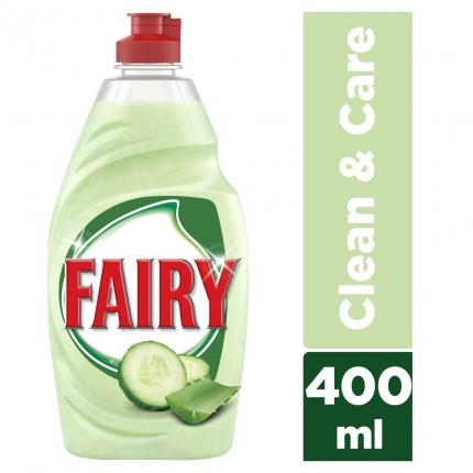 Fairy Clean & Care Αλόη & Αγγούρι υγρό πιάτων 400ml