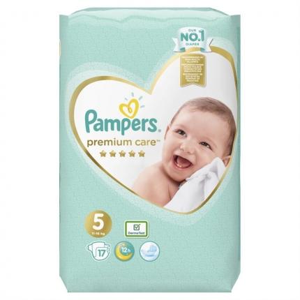 Pampers Premium Care Μέγεθος 5 (11-16kg), 17 Πάνες