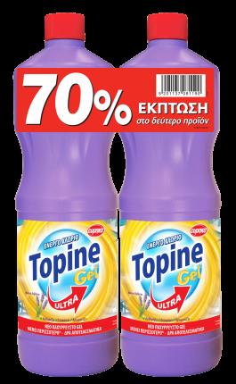 TOPINE GEL ΧΛΩΡΙΟ ΛΕΒΑΝΤΑ 1250ML SET TO 2o TMX -70%