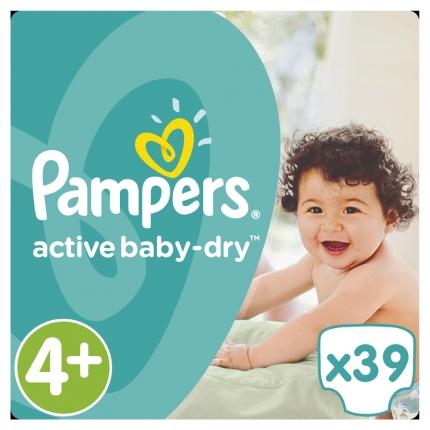 Pampers Active Baby Dry Μέγεθος 4+ (9-18kg,) 39 Πάνες