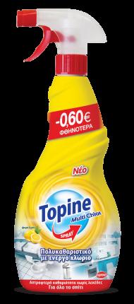 TOPINE MULTICHLOR ΛΕΜΟΝΙ SPRAY 15x750ML -0,60€