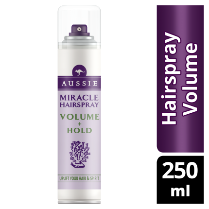 Aussie Miracle Hairspray Volume+Hold 250ml