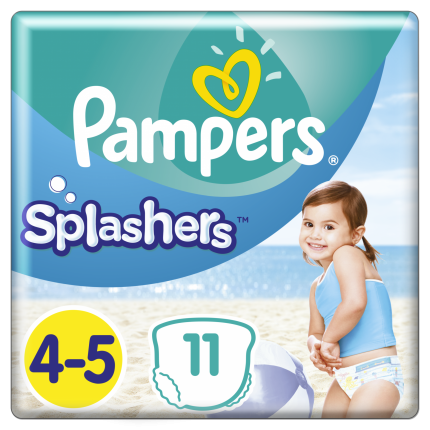 PAMPERS SPLASHERS CP ΜΕΓ 4-5 (9-15kg), 11ΤΕΜ.