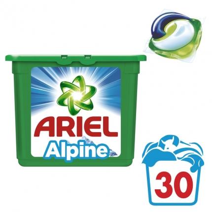 Κάψουλες Ariel Pods 3σε1 Alpine - 30 Κάψουλες