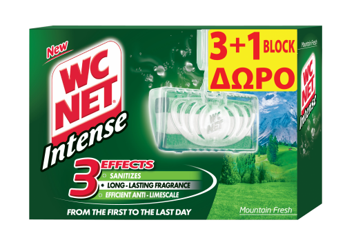 NET WC INTENSE BLOCK MOUNTAIN FRESH (3+1) 4x34gr