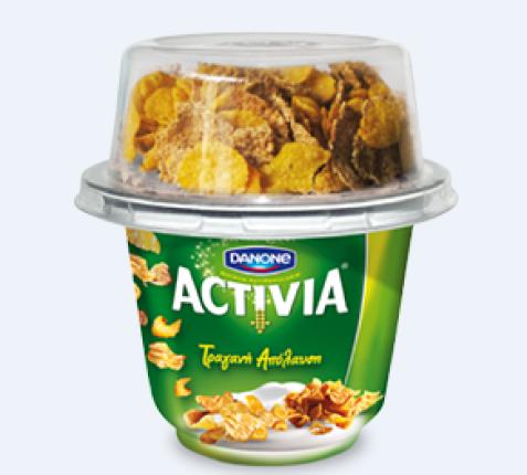 Danone Activia Τραγανή Απόλαυση 180gr+20gr δημητριακά