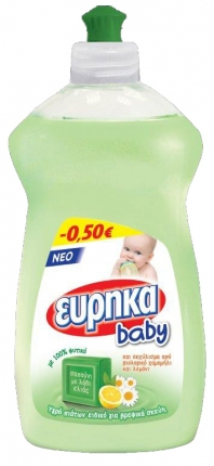 ΕΥΡΗΚΑ ΥΓΡΟ ΠΙΑΤΩΝ BABY 500ML -0.50€