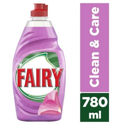 Fairy Clean & Care Τριαντάφυλλο & Σατέν υγρό πιάτων 780ml