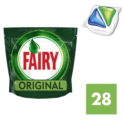 Fairy All in One Original Ταμπλέτες Πλυντηρίου Πιάτων 28 ανά συσκευασία