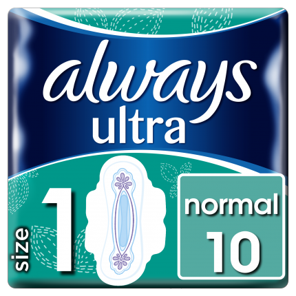 Always Σερβιέτες ONM Ultra Normal Plus 100% protection (10 τεμ)