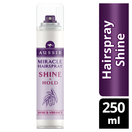 Aussie Miracle Hairspray Shine + Hold 250ml