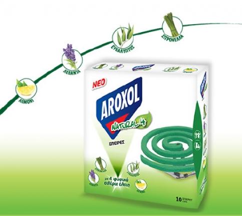 AROXOL ΣΠΙΡΑΛ NATURAL FOUR 10TMX