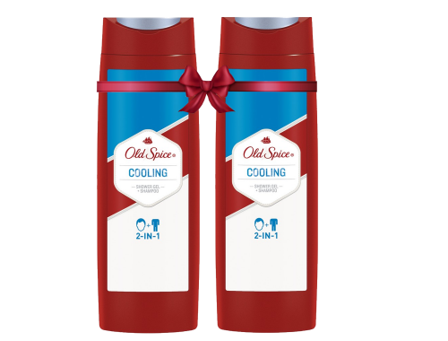 Old Spice Hair&Body Cooling Αφρόλουτρο και Σαμπουάν για Άντρες 400ML  1+1 ΔΩΡΟ