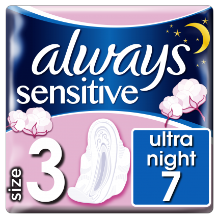 Always Σερβιέτες Sensitive Ultra Night (7τεμ)