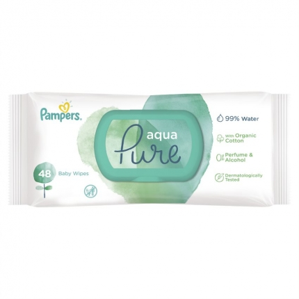PAMPERS WIPES PURE 14X48