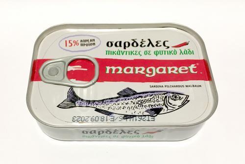 MARGARET ΣΑΡΔΕΛΕΣ ΠΙΚΑΝΤΙΚΕΣ 100x115gr