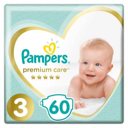 Pampers Premium Care Μέγεθος 3 ( 5-9kg), 60 Πάνες