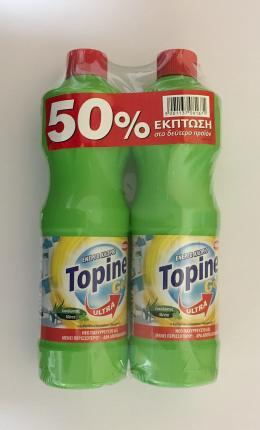 TOPINE GEL ΧΛΩΡΙΟ ΕΥΚ/ΜΕΝΤ 750ML 2ΤΜΧ (ΤΟ 2ο -50%)
