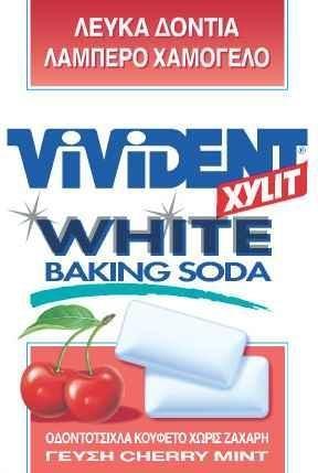 VIVIDENT XYLIT WHITE BAKING SODA CHERRY MINT 12