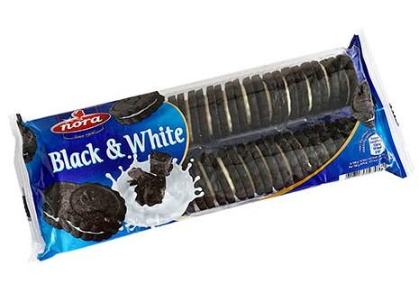 NORA BLACK & WHITE COOKIES 24x250G
