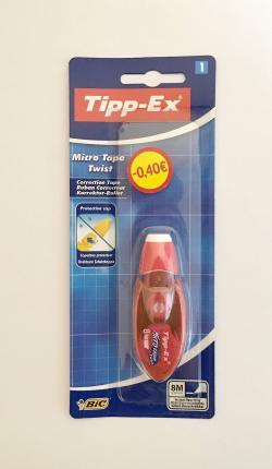 BIC ΔΙΟΡΘ. ΤΑΙΝΙΑ TIPPEX MICRO TAPE TWIST 0.4€ OFF B/1