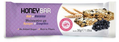Honey Bar Μελεκούνι με Βρώμη, Σταφίδες & Ηλιόσπορους 30gr