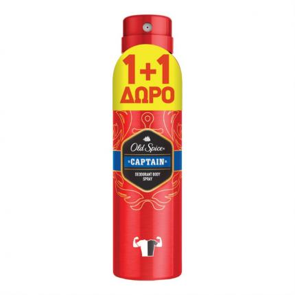 OLD SPICE DEO SPR CAPTAIN 6X150ML(1+1 Δ)