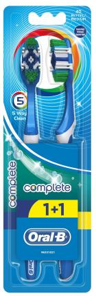 ORAL-B ΟΔΟΝΤΟΒΟΥΡΤΣΑ COMPLETE 5 WAY 40M (1+1)