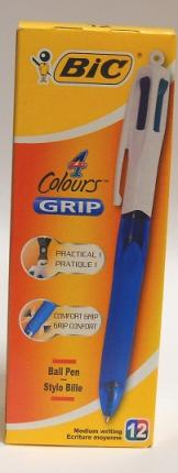 BIC ΣΤΥΛΟ GRIP 4 COLOURS BX12 MED