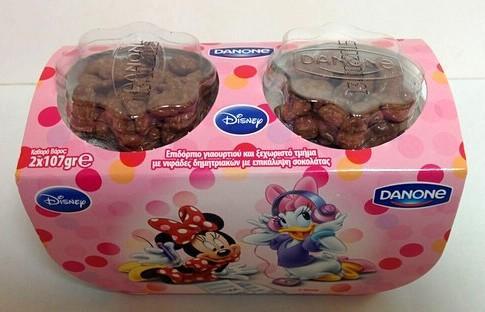 Danone Disney Minnie με Σοκολατένιες Νιφάδες 2Χ107gr