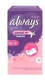 Always Σερβιετάκια Alldays Normal Freshness (30τεμ)