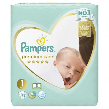 Pampers Premium Care Newborn (2-5kg), 78 Πάνες