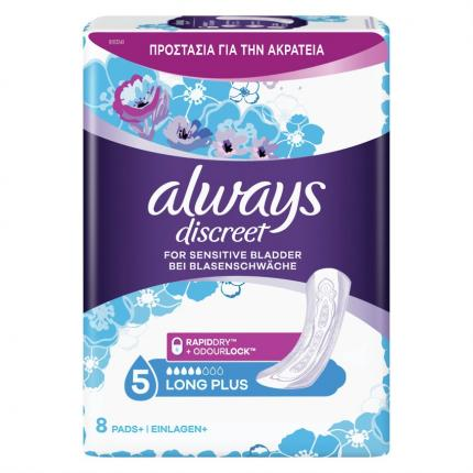 ALWAYS DISCREET PADS LONG PLUS 5X8