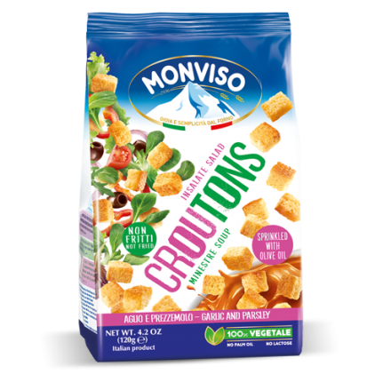 CROUTONS GARLIC & PARSLEY FOR SOUP & SALAD 10x120GR