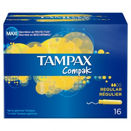 TAMPAX COMPAK REGULAR 12X16
