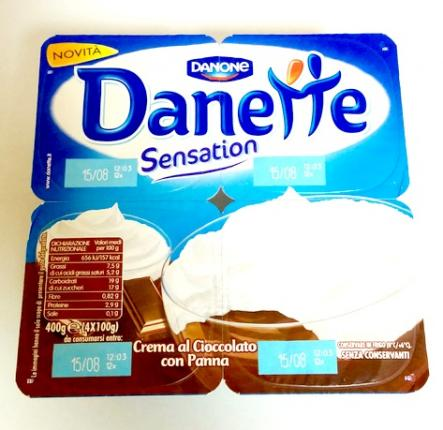 Danone Danette Sensation Σοκολάτα & Μους Βανίλιας 4X100gr