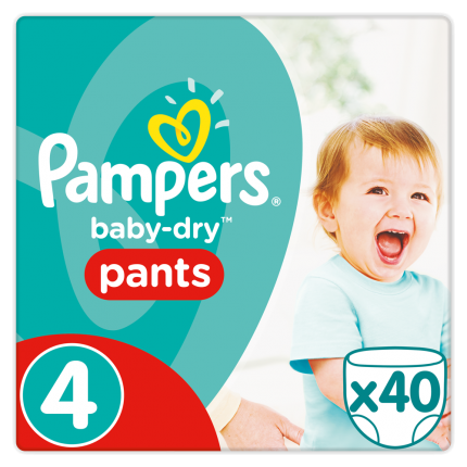 Pampers Baby Dry Pants Maxi Ν. 4 (8-15kg), 40 Πάνες-βρακάκι