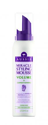 Aussie Miracle Mousse Volume + Conditioning 150ml