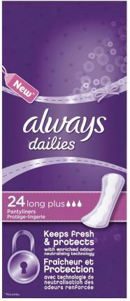 Always Σερβιετάκια Alldays Long Plus (24τεμ)