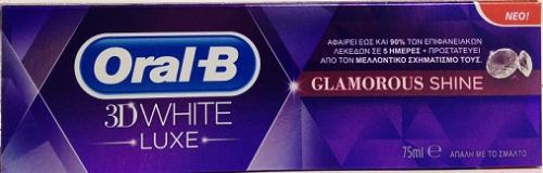 ORAL-B 3D WHITE LUXE GLAMOUR SHINE 75 ML
