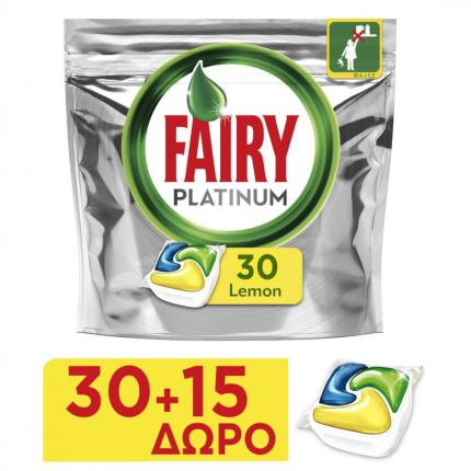 FAIRY CAPS PLATINUM ΛΕΜΟΝΙ 4X(30+15τεμ)