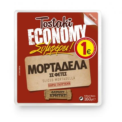 CRETA FARMS TOSTAKI ECONOMY ΜΟΡΤΑΔΕΛΑ ΦΕΤΕΣ 160gr