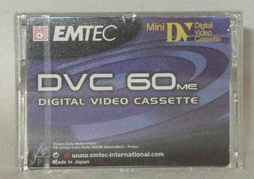 EMTEC COMCORDER CASETTE DVC 60/1