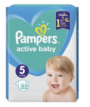 PAMPERS ACTIVE BABY ΜΕΓ 5 4X22 CP