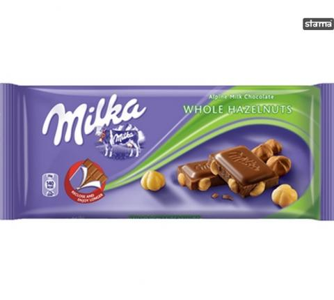 MILKA WHOLE HAZELNUTS 100gr