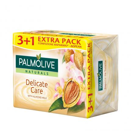 PALMOLIVE ΣΑΠΟΥΝΙ 90X3+1 WHITE CREAM ALMOND MILK