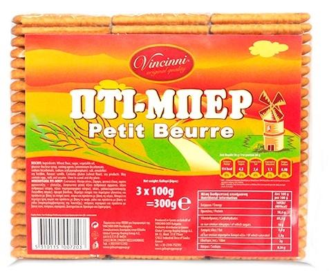 VINCINNI PETIT BEURRE ΜΠΙΣΚΟΤΑ 300G GLB